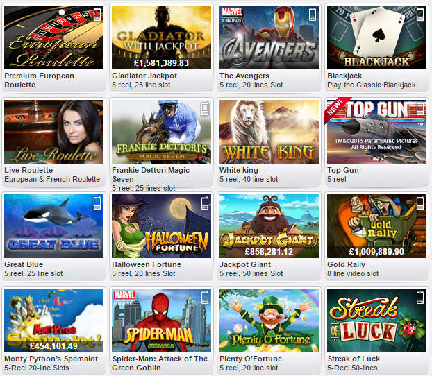 william hill online casino  games online