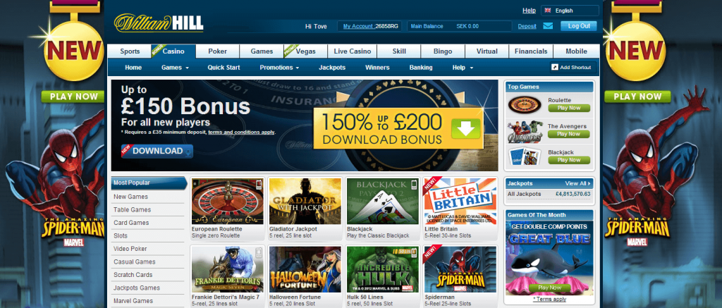 william hill casino app promo code