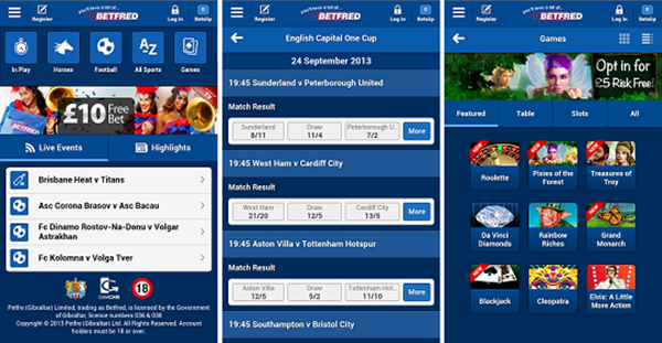 app mobile Betfred
