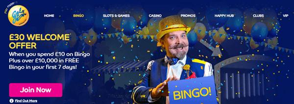 welcome bonus Gala Bingo