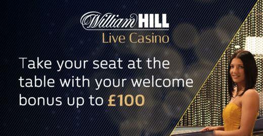 live casino bonus William Hill