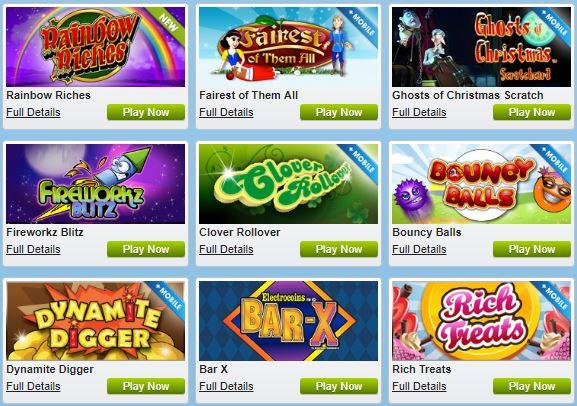William Hill bingo review Games