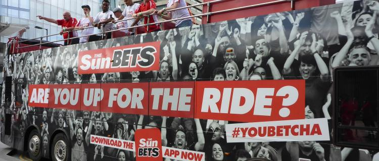 Sun Bets promotional campaign bus