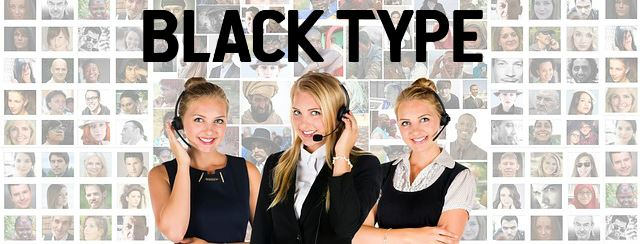 customer service Black Type