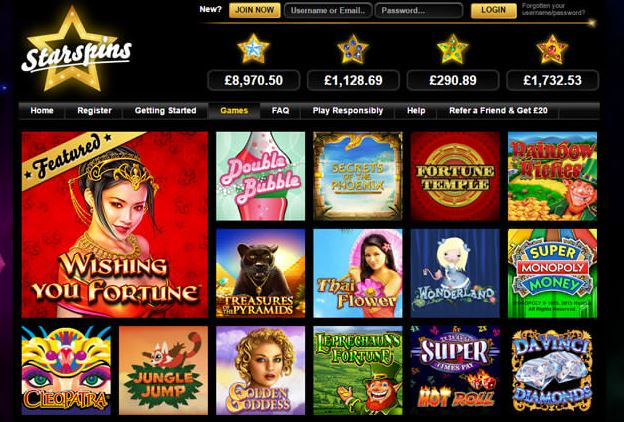 casino games Starspins
