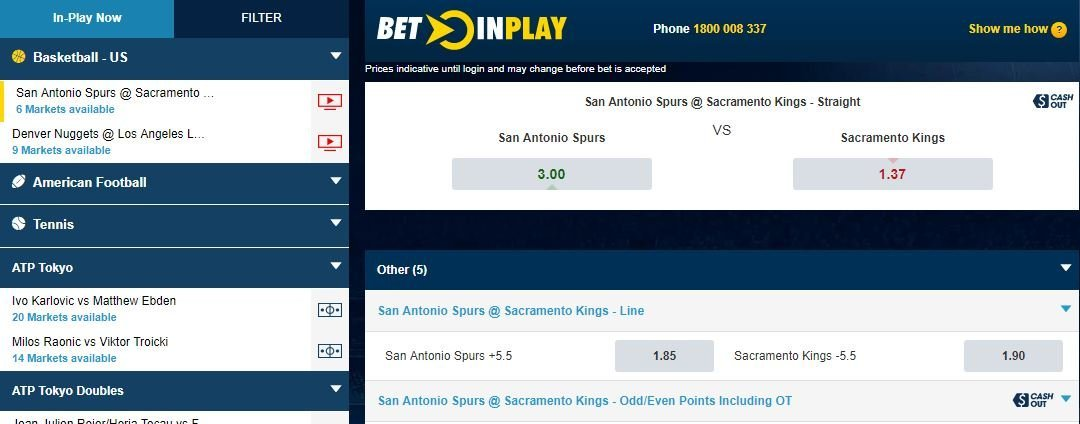 in-play betting William Hill AU