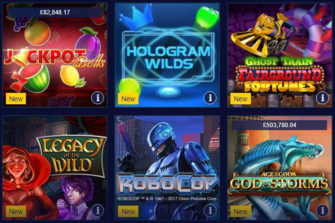 casino slot games William Hill