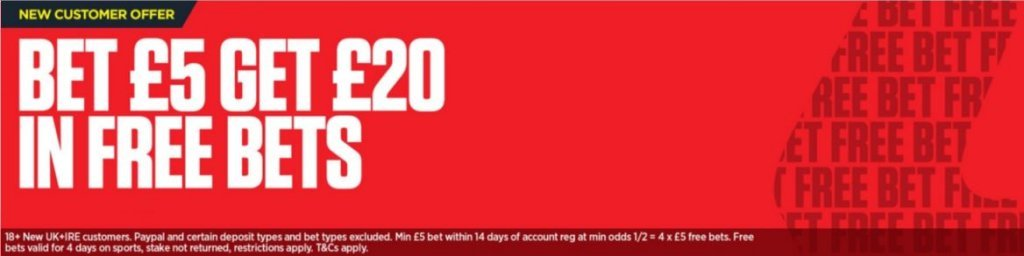 Ladbrokes Welcome Offer Bet £5 Get £20