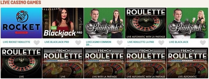 Live Casino Spin and Win