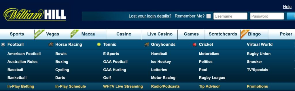 William Hill Sports Games