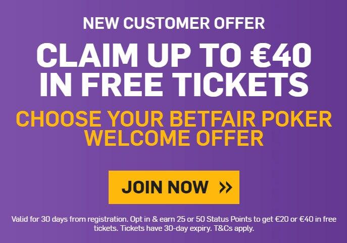 Betfair Poker Welcome Bonus